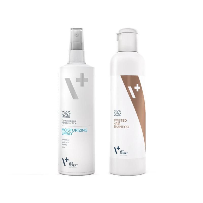 Piękny włos - Moisturizing Spray oraz Twisted Hair Shampoo