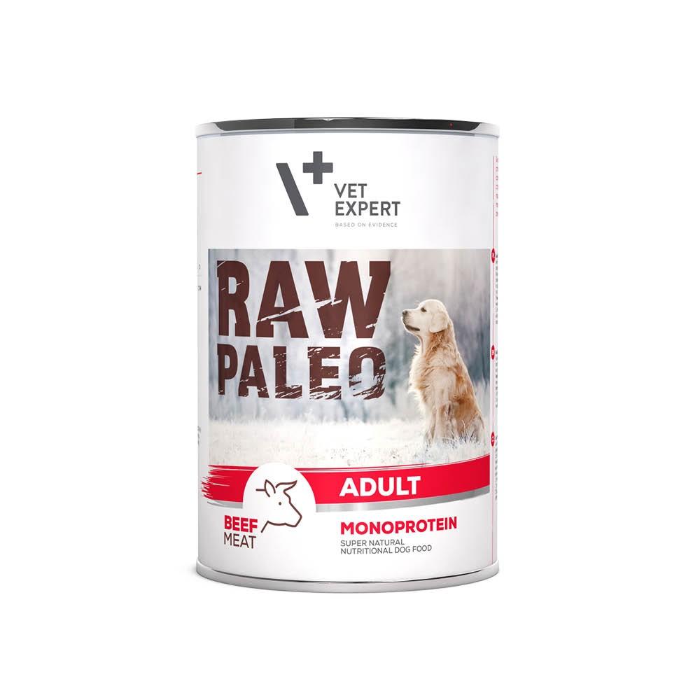 RAW PALEO ADULT DOG BEEF - mokra karma dla psów dorosłych - wołowina (pakiet 6 puszek)