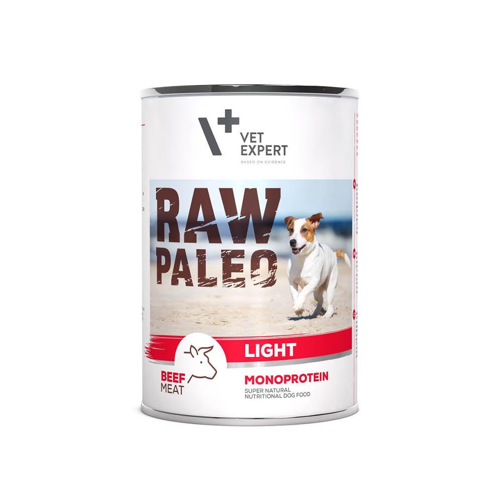 RAW PALEO LIGHT BEEF - niskokaloryczna mokra karma dla psów - wołowina (pakiet 6x400g)