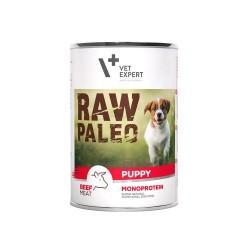 RAW PALEO karma mokra dla szczeniąt - wołowina (pakiet 6x 400g)