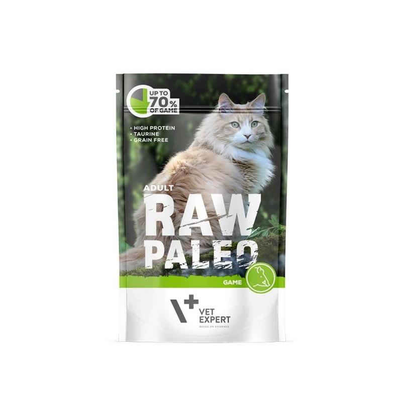 RAW PALEO karma mokra dla kotów dorosłych - dziczyzna (pakiet 12x 100g)