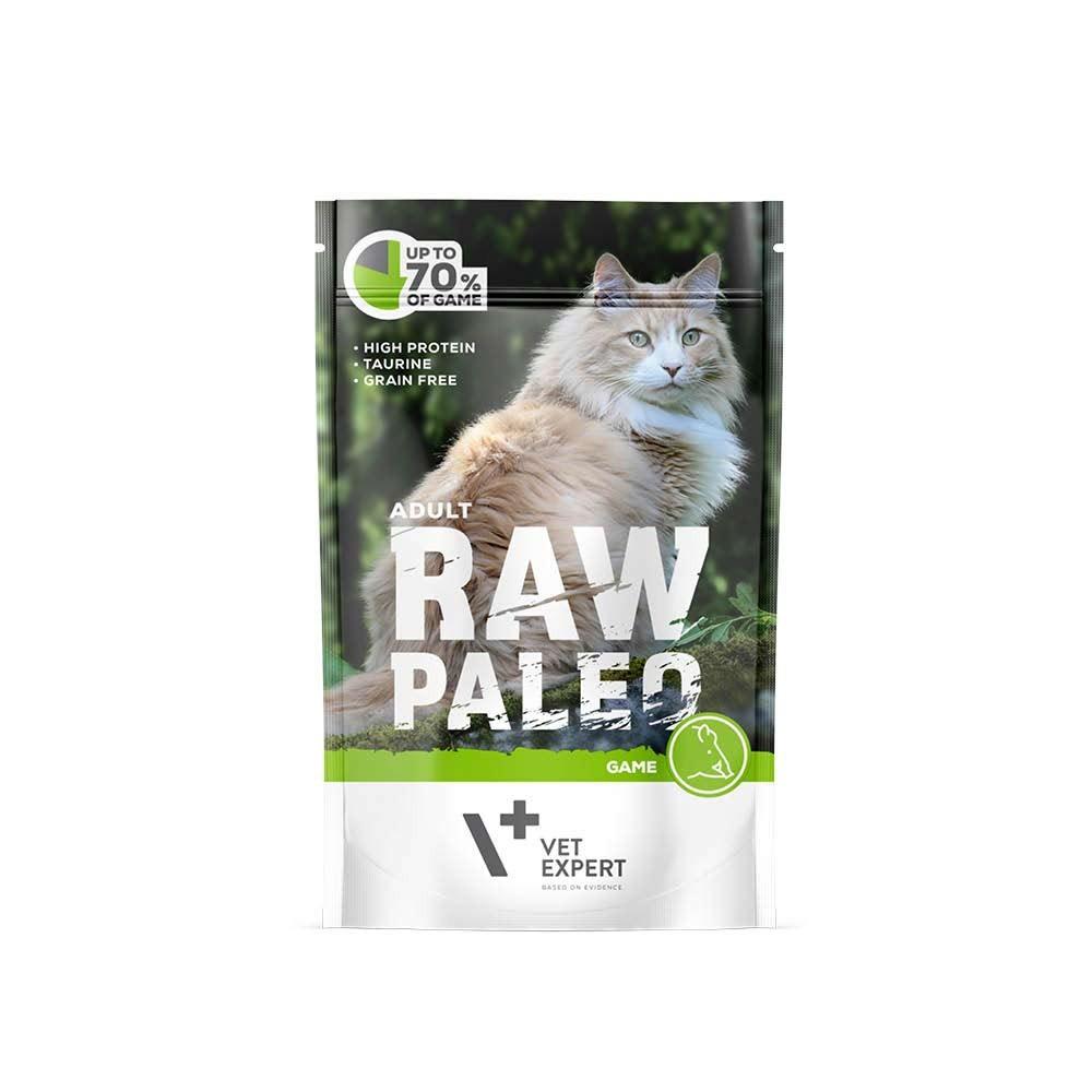 RAW PALEO ADULT CAT GAME - mokra karma dla kotów dorosłych - dziczyzna (pakiet 12x100g)