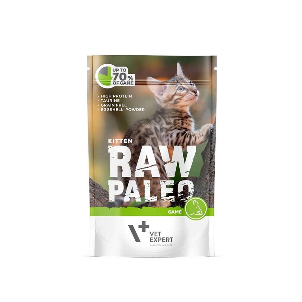 RAW PALEO KITTEN GAME - mokra karma dla kociąt - dziczyzna (pakiet 12x100g)