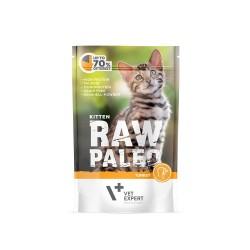 RAW PALEO karma mokra dla kociąt - indyk (pakiet 12x 100g)