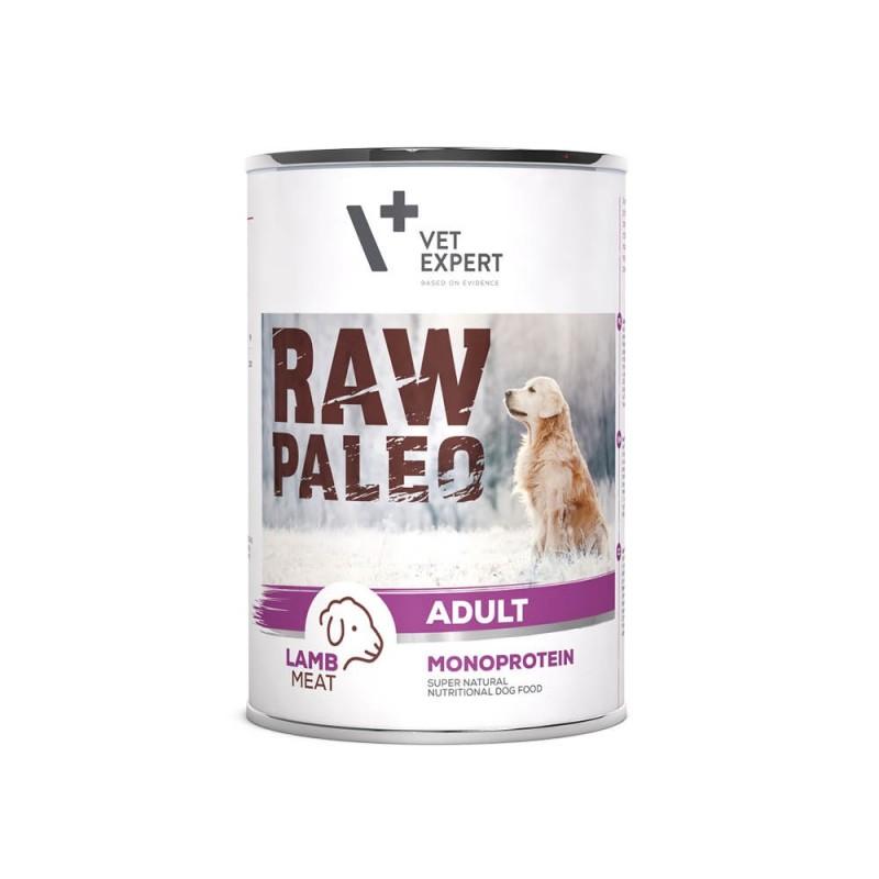 RAW PALEO karma mokra dla psów dorosłych - jagnięcina (pakiet 6x 400g)
