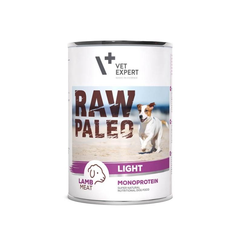 RAW PALEO niskokaloryczna karma mokra - jagnięcina (pakiet 6x 400g)