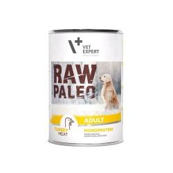 RAW PALEO karma mokra dla psów dorosłych - indyk (pakiet 6x 400g)