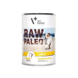 RAW PALEO niskokaloryczna karma mokra - indyk (pakiet 6x 400g)