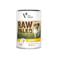 RAW PALEO karma mokra dla szczeniąt - indyk (pakiet 6x 400g)