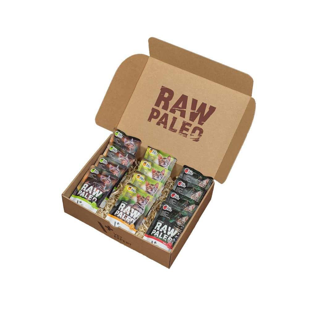 RAW PALEO KITTEN - mokra karma dla kociąt - mix smaków (pakiet 12x100g)