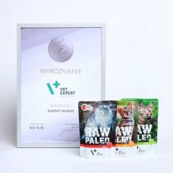 RAW PALEO Sterilised karma mokra dla kotów - mix smaków  - Nagroda